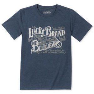 LUCKY Brand Dark Denim Heather Premium Blue NWT
